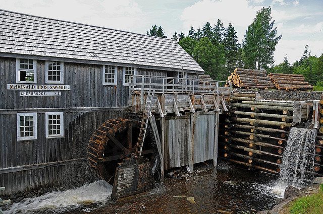 Old time sawmill